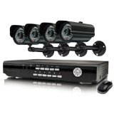 Swann Alpha D03C5 SWA43-D3C5 8 Channel H.264 DVR and 4 CCD Weather Resistant Cameras