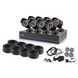 Swann 8 Channel 1080p TVI DVR Security System with 8 1080p Cameras, 2TB Hard Drive, and 100′ Night Vision