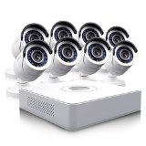 Swann SWDVK-81508W-US DVR8-1500 8-Channel Compact D1 Digital Video Recorder and 8 x PRO-540 Cameras (White)